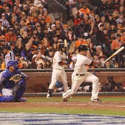 Giants win World Series Game 4