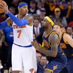 Carmelo Anthony delivered the final blow in the Knicks victory over the Cavaliers.