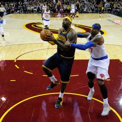 LeBron James had trouble against the Knicks in his first regular season game back playing for the Cavaliers.