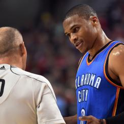 Russell Westbrook confrontation fan Thunder