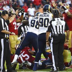 NFL Week 9: Colin Kaepernick's goal-line fumble thwarted 49ers' comeback attempt vs. Rams