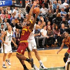 The Jazz knocked off LeBron James' Cleveland Cavaliers with a 102-100 victory.