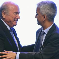 U.S. senators have written to FIFA president Sepp Blatter, left, and U.S. Soccer Federation president Sunil Gulati, right, to express concern over the Women's World Cup turf situation.