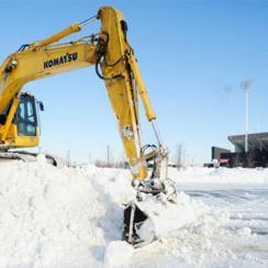 Ralph Wilson Stadium snow