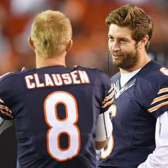 Jay Cutler Jimmy Clausen Bears