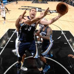 Marc Gasol, Grizzlies outlasted the Spurs in a wild three-overtime game.