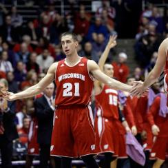 Josh Gasser (center) and Wisconsin are off to a 3-0 start in Big Ten play. Could they run the table?
