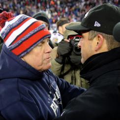 John Harbaugh Bill Belichick Baltimore Ravens New England Patriots