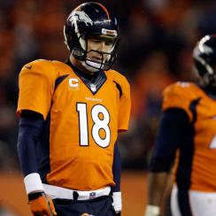 Peyton Manning Broncos quarterback quad injury