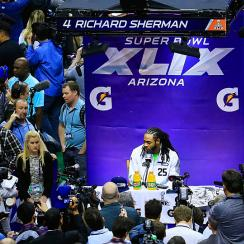 Richard Sherman's smart, valid remarks; more 2015 Super Bowl Media Day snaps