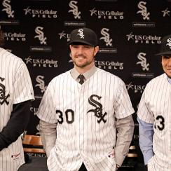 Jeff Samardzija, David Robertston, Melky Cabrera, Chicago White Sox