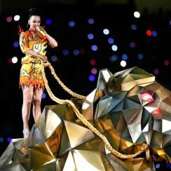 Katy Perry robotic lion super bowl 2015 halftime show