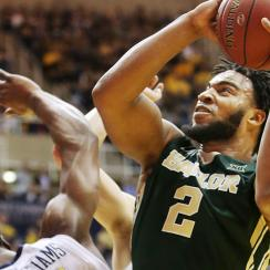 Rico Gathers starred in Baylor's rout over West Virginia.