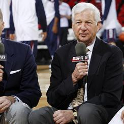 Bill Raftery (center) along with Jay Bilas (left) and Dave Pasch.