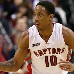 Raptors' DeMar DeRozan hit the game-winning jumper to defeat the Wizards in Toronto.