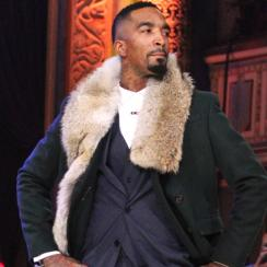 J.R. Smith walked the runway at the NBA All-Star fashion show.