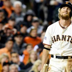 hunter pence injury broken arm san francisco giants