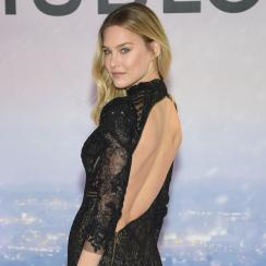 Bar Refaeli being announced as a Hublot Boutique brand ambassador Feb. 12 in New York.