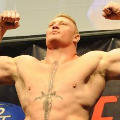 Before the WWE, Brock Lesnar was just a regular college superhuman