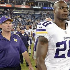 Mike Zimmer and Adrian Peterson