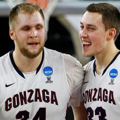 Przemek Karnowski and Kyle Wiltjer, Gonzaga Bulldogs