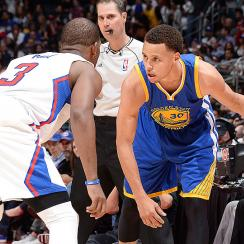 Stephen Curry scored 27 points in the Warriors 110-106 victor over the Clippers.
