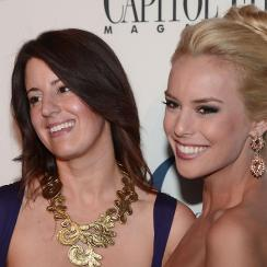 Britt McHenry (above, right) at the White House Correspondent's Dinner after party in 2013.