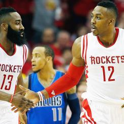 James Harden and Dwight Howard led the Rockets to a Game 1 victory over the Mavericks.