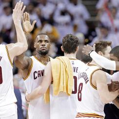 "The Cavaliers ""Big Three"" scored 69 points in a Game 1 win over the Celtics."