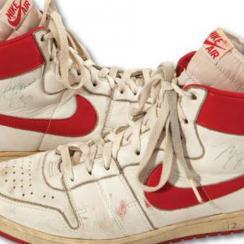 Michael Jordan game worn rookie sneakers sell for $71,533