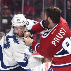 canadiens lightning brandon prust referee comments