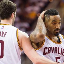 Kevin Love and J.R. Smith