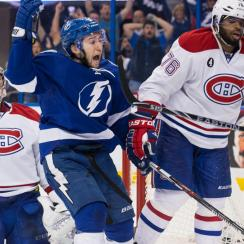 Tyler Johnson scored a buzzer beater goal for the Lightning against the Canadiens.