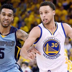 Stephen Curry, Warriors took advantage of Tony Allen's absence in a Game 5 rout.