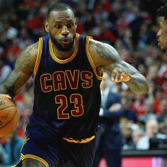 LeBron James, Cleveland Cavaliers beat Chicago Bulls to advance to their first conference finals since 2009.