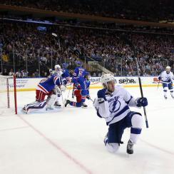 rangers lightning tyler johnson hat trick shorthanded goal video