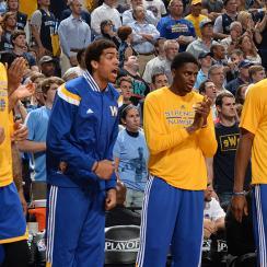 Warriors bench