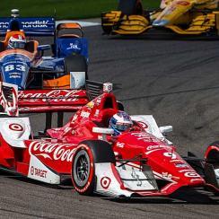 Scott Dixon, in the #9 red Chevrolet