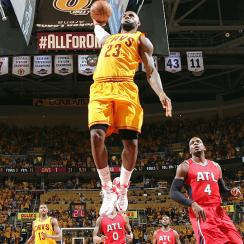 LeBron James reached his fifth straight NBA Finals after Cavaliers' sweep of Hawks.