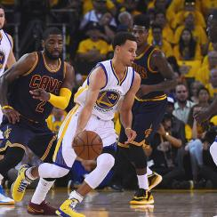 Stephen Curry, Golden State Warriors defeated LeBron James, Cleveland Cavaliers in Game 1 of NBA Finals.