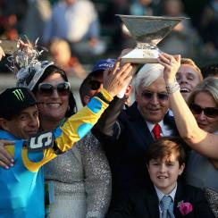 american pharoah triple crown belmont winnings donated jockey trainer