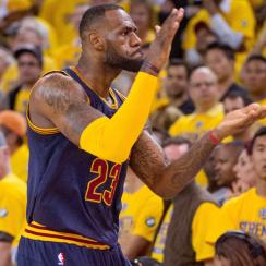 LeBron James recorded a triple double in Cavaliers' 95–93 Game 2 win against Warriors in the NBA Finals.