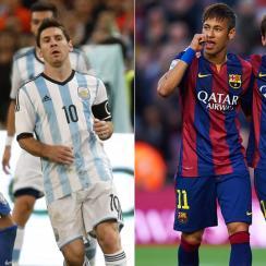 Messi, Neymar, Argentina, Brazil