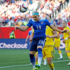 Julie Johnston starred defensively for the USA in the Women's World Cup against Sweden.