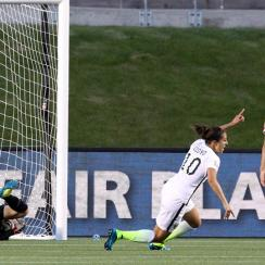 Carli Lloyd celebrates her game-winning goal for the USA vs. China in the Women's World Cup
