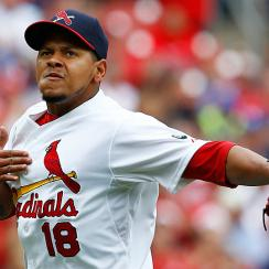 On May 31, one year to the day after Oscar Taveras's first home run, Carlos Martinez shut down the Dodgers while wearing his friend's old number.