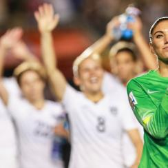 U.S. women's national team goalkeeper Hope Solo has recorded four straight clean sheets in the Women's World Cup.