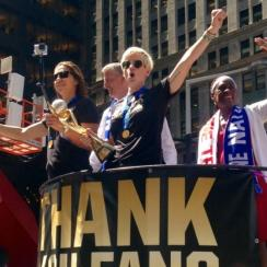 USWNT world cup parade photos and videos