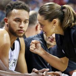 Becky Hammon made history by becoming the first woman to coach an NBA Summer League game.