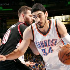 Thunder match the Blazers' max offer sheet for Enes Kanter.